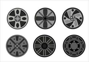 Coleção de vetor hubcap