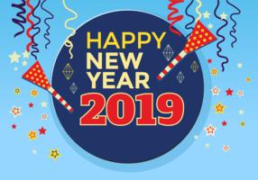 Feliz ano novo 2018 modelo do cartão vetor