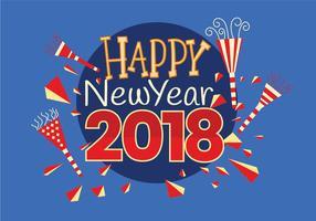 Feliz ano novo 2018 cartão vetor de cartão