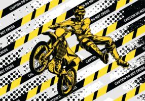 Ilustração vetorial do motorcross vetor