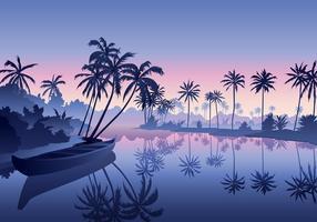 Kerala backwater free vector