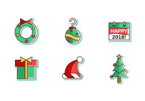 Feliz Natal e Feliz Ano Novo 2018 Free Vector Pack