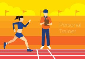 Personal trainer cartoon free vector