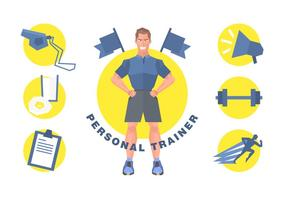 Livre Personal Trainer Vector