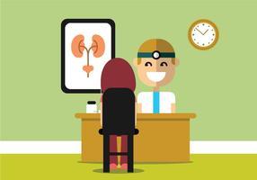 Ilustração do especialista em urologia vetor