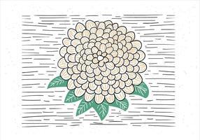 Livre mão desenhada vetor abstrato flor