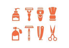 Ícones do vetor Shave