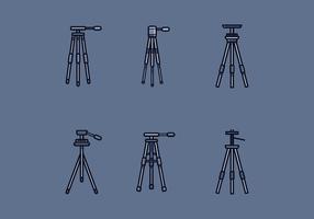 Vector de tripé de câmera grátis