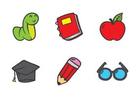 Ícone Doodle de Educação vetor