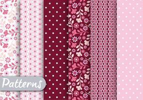 Padrão romântico floral rosa vetor