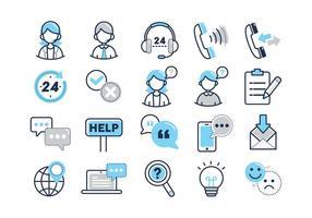 Ícones de vetor de serviços ao cliente