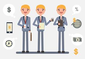 O vetor da ilustração do personagem da contabilidade