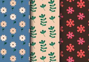 Padrões florais do vintage grátis vetor
