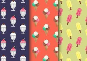Padrões de doces vintage gratuitos vetor