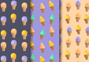 padrões de sorvete vintage grátis vetor
