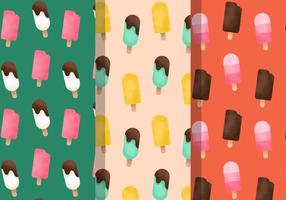 Padrões gratuitos de sorvete vintage vetor