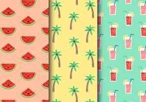 Padrões de férias de verão vintage gratuitos vetor