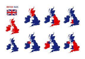 Vector do Mapa das Ilhas Britânicas