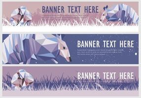 Web banner armadillo vector