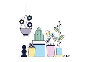 Vetor de pote de flores grátis