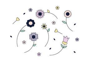 Vetor de flores grátis