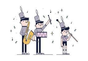 Vector de banda de música livre