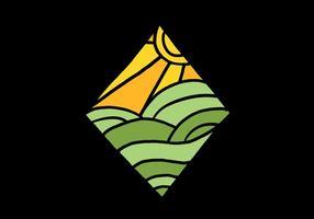 Emblema de diamante mínimo vetor
