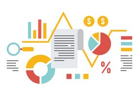 Ilustração vetorial da contabilidade vetor