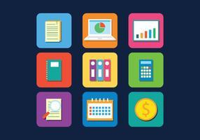 Ícones de vetor de contabilidade