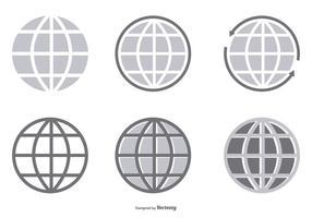 Coleção de ícone de globo vetorial vetor