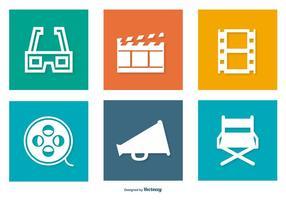 Colecção de ícones de cinema