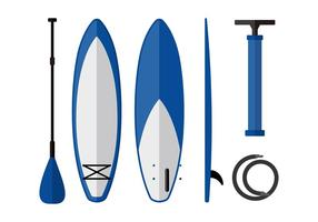 Paddle board equipment free vector