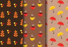 Padrões de outono vintage gratuitos vetor