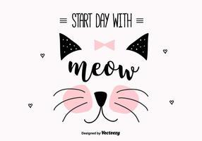 Fundo do vetor Meow