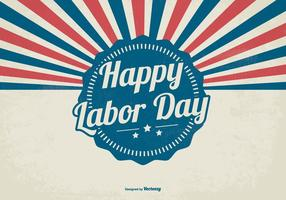 Retro Sunburst Labour Day Style Background vetor