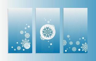 Banner de floco de neve azul-gelo e branco gelado vetor