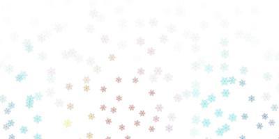 textura de doodle azul e vermelho claro com flores.