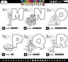 letras do alfabeto de ma r livro para colorir