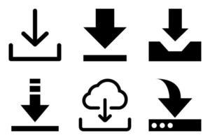 baixar conjunto de ícones de seis unidades vetor
