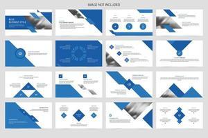 apresentação de apresentação de promoção de slides de empresa de negócios vetor
