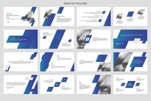 modelo de slide de apresentação publicitária simples vetor