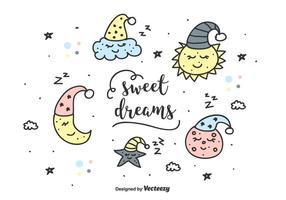 Conjunto de sonhos doces vetor