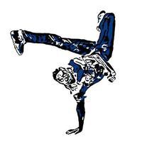 dançarina de hip hop afro-americana vetor