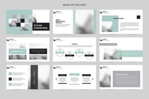 planejamento de slides de apresentação de publicidade vetor