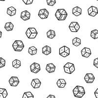padrão sem emenda com dados preto e branco