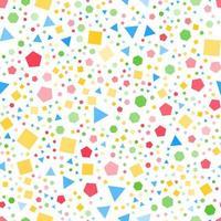 padrão sem emenda de formas geométricas regulares vetor