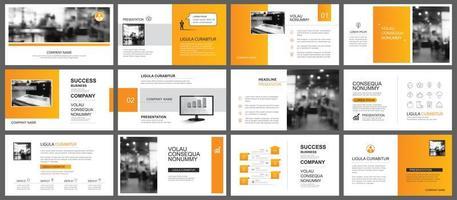 apresentação e layout de slides vetor