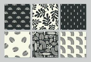 padrões sem costura artísticos com folhas abstratas