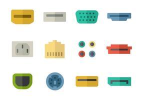 Vector de ícones de portas livres