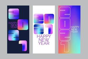 Banner de ano novo de 2021
